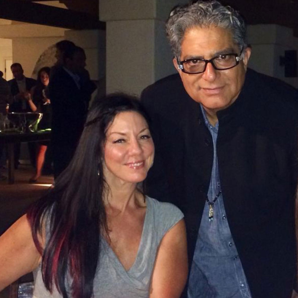 Susan Leger Ferraro with Deepak Chopra